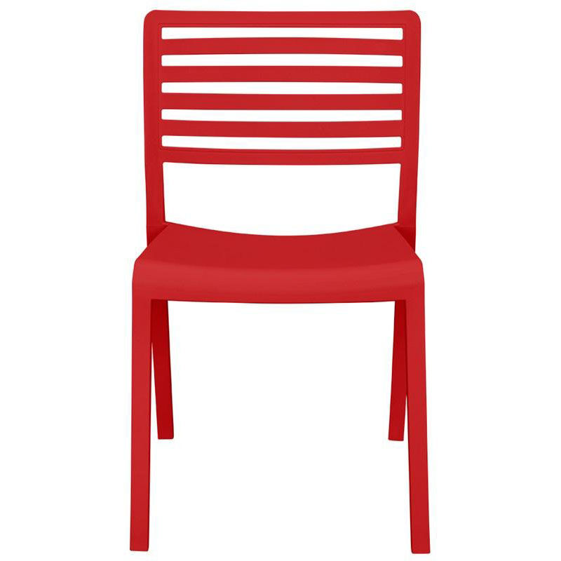 Our Savannah Outdoor Stackable Armless Side Chair   Red Is On Sale Now.