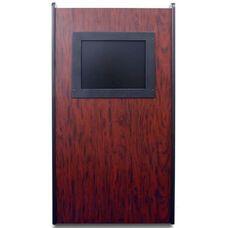 Visionary Non-Sound Lectern With Built-in LCD Screen - Mahogany Finish - 26