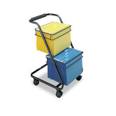 Safco® Jazz Two-Tier File Cart - 15-3/4w x 19d x 28h - Black