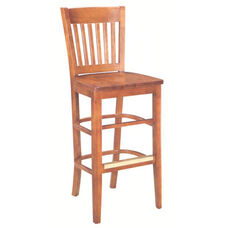 1992 Bar Stool w/ Wood Seat