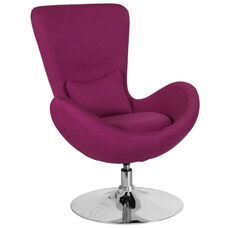 Egg Series Magenta Fabric Side Reception Chair