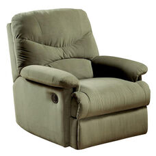 Arcadia Transitional Style Microfiber Recliner with Hand Latch - Sage