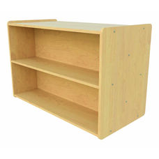 1000 Series 30.5''H Preschool Size Double Sided Shelf Storage Unit - Unassembled