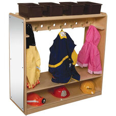 Mobile Healthy Kids Plywood Double Sided Dress-Up Locker - Assembled - 41