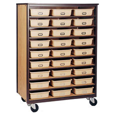 9-Shelf Tote Tray Mobile Storage