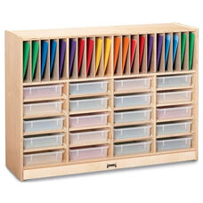 Homework Station with Vertical Slots for Folders