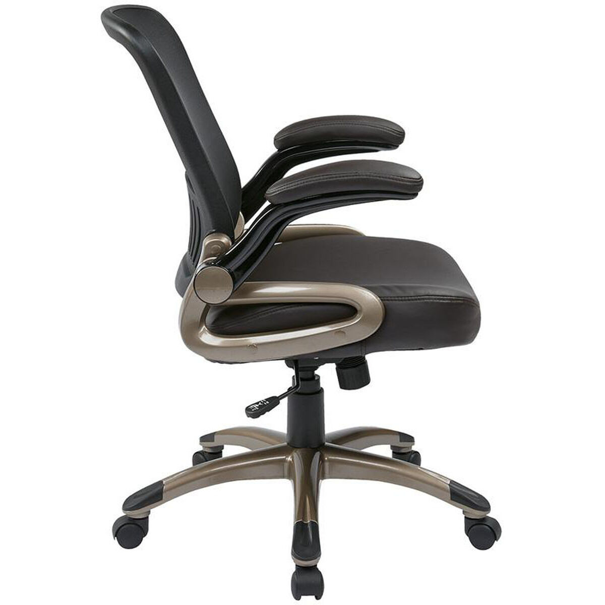 Our Work Smart Screen Back Eco Leather Seat Managers Chair With Padded Flip Up Arms