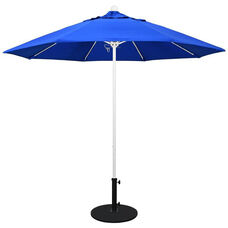 9 Ft. Market Umbrella with Push Lift and Single Wind Vent - White Aluminum Pole