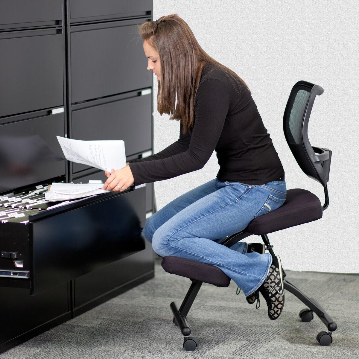 black mobile kneeler w back wl 3520 gg bizchair com