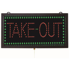 High Visibility LED TAKE-OUT Sign - 9.75