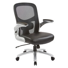 Big and Tall 69226 Mesh Back Office Chair with Leather Seat with 400 lb Weight Capacity