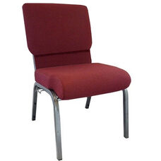 Advantage Maroon Church Chair with Book Rack 20.5 in. Wide