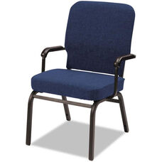 Alera® Oversize Upholstered Stacking Arm Chair - Set of Two - Navy Fabric