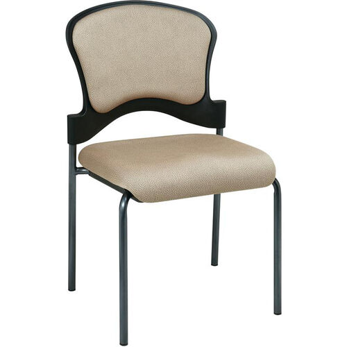 Our Pro-Line II Armless Upholstered Contour Back Stacking Visitors Chair with Titanium Finish Frame - Camel is on sale now.