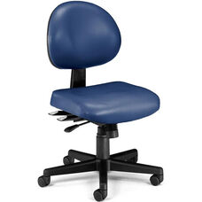 24 Hour Anti-Microbial and Anti-Bacterial Vinyl Task Chair - Navy