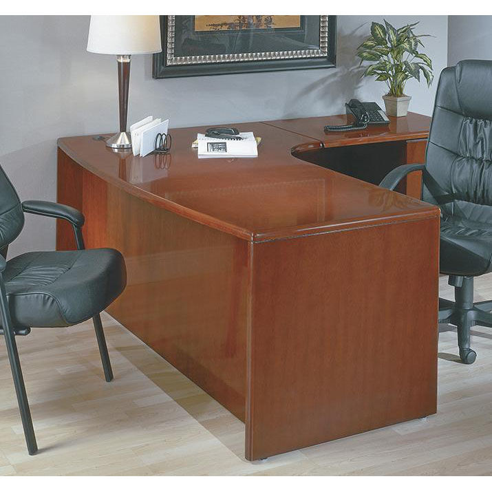 ... Our OSP Furniture Sonoma Wood 72u0027u0027 Right L Shaped Corner Desk   Cherry