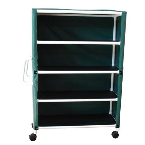 Our 4-Shelf Jumbo Linen Cart with Mesh Or Solid Vinyl Cover - 20