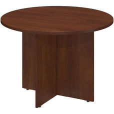Conference Tables 41.5'' Diameter Round Conference Table with Wood Base - Hansen Cherry