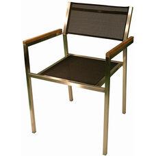 Elegance Indoor/ Outdoor Stainless Steel Stackable Textilene Arm Chair
