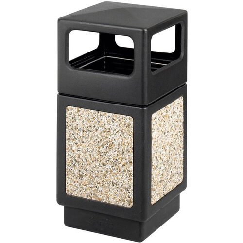 Our Canmeleon™ 38 Gallon Indoor or Outdoor Aggregate Side Open Receptacle - Black is on sale now.