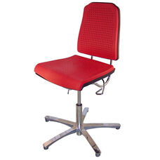 Aklaim Flagship Series Red Task Chair with Ergonomic Upholstery and Star Base with Glides - High Profile