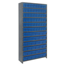 13 Shelf Closed Unit with 36 Large Drawers and 54 Small Drawers - Blue