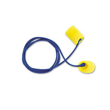 3M E.A.R Classic Earplugs - Corded - PVC Foam - Yellow - 200 Pairs