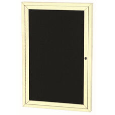 1 Door Indoor Illuminated Enclosed Directory Board with Ivory Anodized Aluminum Frame - 48