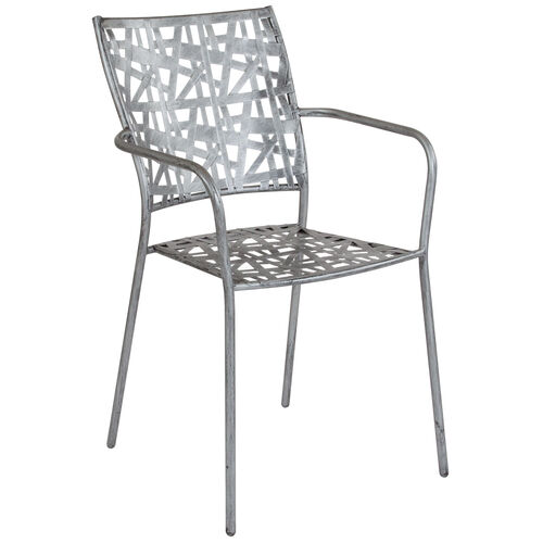 Our Agostina Series Antique Silver Indoor-Outdoor Steel Patio Stack Chair is on sale now.