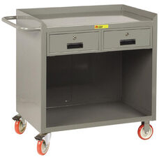Mobile 2 Drawer Bench Cabinet with Open Storage - 24