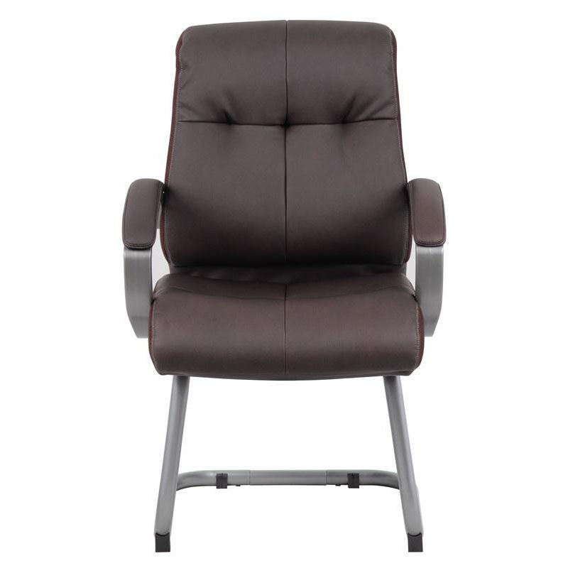 Boss Office Products Double Plush Executive Guest Chair With Padded Arms    Brown B8779P BN | Bizchair.com