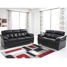 Benchcraft Bastrop Living Room Set in Midnight DuraBlend