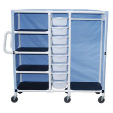 Non-Magnetic Combo Cart with Four Shelves and Casters - 20