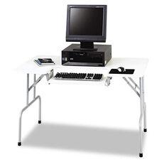 Safco® Folding Computer Table - Rectangular - 47 1/2w x 29 3/4d x 28 3/4h - Light Gray