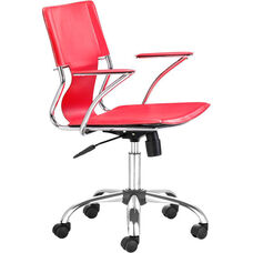 Trafico Mid-Back Chair in Red