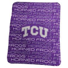 Texas Christian University Team Logo Classic Fleece Throw
