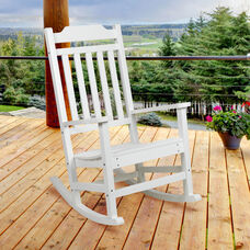 Winston All-Weather Poly Resin Rocking Chair in White