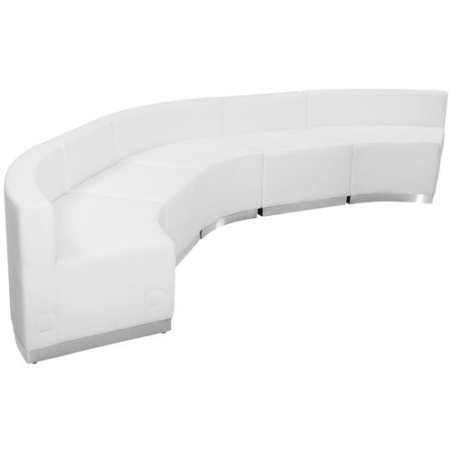 Our HERCULES Alon Series Melrose White LeatherSoft Reception Configuration, 5 Pieces is on sale now.