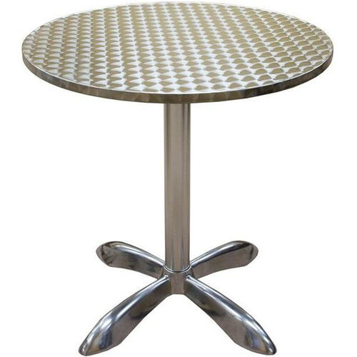 Our Round Aluminum Indoor Table is on sale now.