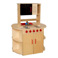 Pretend Play Healthy Kids Plywood All-In-One Kitchen Center - 32