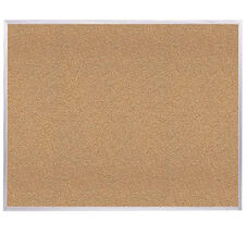 Aluminum Framed Premium Extra Thick Natural Cork Bulletin Board - 3