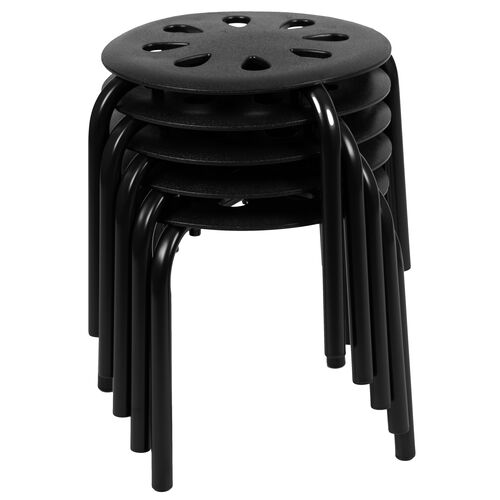 "Our Plastic Nesting Stack Stools, 11.5""Height, Black (5 Pack) is on sale now."