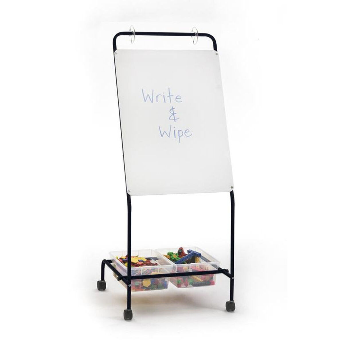 Basic Chart Stand Dry Erase Board And Storage Tubs