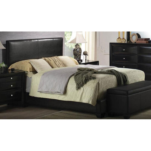 Our Ireland III Faux Leather Panel Bed - Full - Black is on sale now.