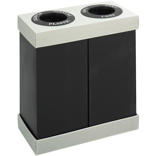Our At-Your-Disposal® Double 28 Gallon Bin Recycling Center - Black and Gray is on sale now.