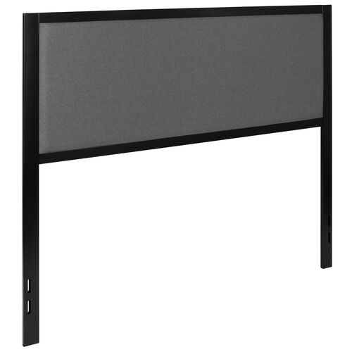 Our Melbourne Metal Upholstered Queen Size Headboard in Dark Gray Fabric is on sale now.