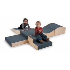 Woodscapes Hill and Dale Set in Carpeted Birch Plywood - 6 Assorted Platforms