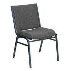 HERCULES Series Heavy Duty Gray Fabric Stack Chair