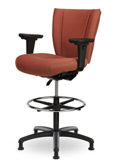 Monterey II 300 Series Medium Back Single Shift Adjustable Swivel and Seat Height Stool