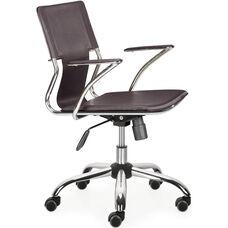 Trafico Mid-Back Chair in Espresso
